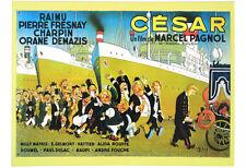 PLAQUE METAL 38X28 cm AFFICHE FILM CESAR DE MARCEL PAGNOL DESSIN DUBOUT