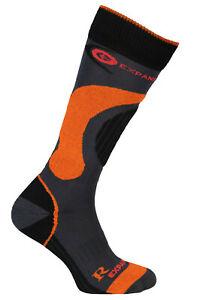 Winter Ski Siltex Socks Long Snowboard Warm Shaped Wool Antibacterial Orange