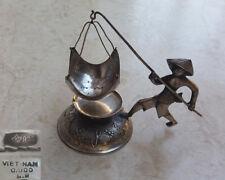 Pécheur Figurine Argent Massif 900 Passoire de Thé Vietnam 875 Soviètique