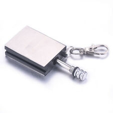 Permanent Steel Match Box Refillable Lighter Striker Gadget Novelty With Keyring
