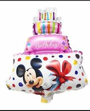 Mickey Mouse Disney Pink Birthday Cake Foil Helium Balloon! Xmas, Reveal, Party