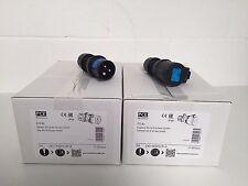 10 x PCE Midnight Series Male 230v 16a Plug 013-6x & Coupler 213-6x