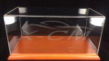 Car Model Transparent Display Show Case Wooden Base 1:18 (Brown)