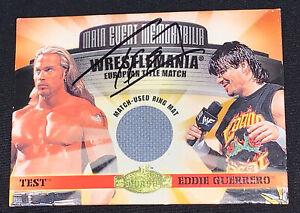 2001 WWF Main Event Memorabilia Wrestlemania European Title Match TEST vs EDDIE