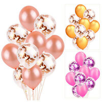 "10Pcs Confetti Latex Balloons 12"" Baby Shower Birthday Wedding Party Decor EY"