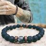 Natural Moonstone Bead Tibetan Buddha Lava Stone Diffuser Bracelets Men Jewelry