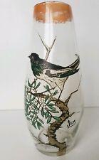 Très beau vase verre signé JEM école Legras très bon état