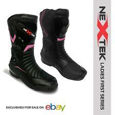 Ladies Motorbike Racing Boots Leather Waterproof Stylish Attractive Design Armor
