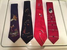 Vtg Men's 1940s Lot of 4 Neckties 40s Or 50s Ties