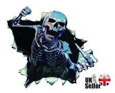 Estilo coche 3D gráfico de cráneo esqueleto Divertido Calcomanía Pegatina De Vinilo Impermeable UK