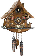 Original German Cuckoo Clock Quartz-movement Chalet-Style 25cm by Engstler
