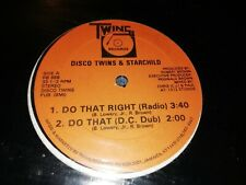 "DISCO TWINS & STARCHILD * THERE IT IS ! * 12"" HIP HOP VINYL 1988 EXCELLENT"