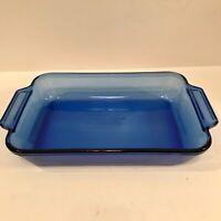 "Anchor Hocking Cobalt Blue Lasagna Casserole Baking Dish 8.5"" x 11.5"""