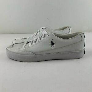 Polo Ralph Lauren Men 10.5 D White Sneakers Lace Up Outdoor Casual Party