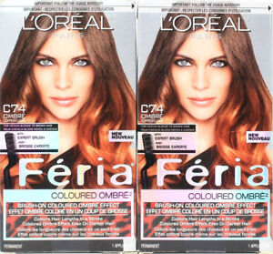 2 L'oreal Paris C74 For Medium Blonde To Brown Hair Feria Coloured Ombre