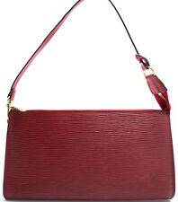 Louis Vuitton EPI Pochette Accessoires Pouch Tasche Bag Zeitlos Rot Red Rouge