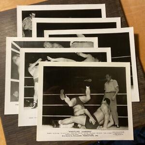 7 Different Vintage Wrestling Jamboree 1950 Hallmark Productions Lobby Cards