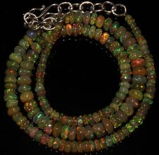 """54 Crts 1 Strands 3 to 6 mm 16"""" Beads necklace Ethiopian Welo Fire Opal  AA++910"""
