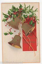 Ellen Clapsaddle, Bells & Holly Christmas Postcard, B520