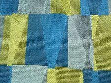 Sanderson Curtain / Upholstery Fabric LASZLO 3.4m Cut Velvet - Blue/Silver 340cm