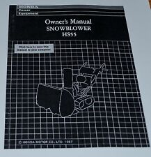 Honda HS55 Snowblower 2-Stage Owner's Manual track wheel drive New Version