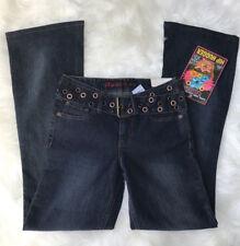 NWT MUDD Women's Hip Hugger Low-rise Jeans Size 1 Denim Medium Wash