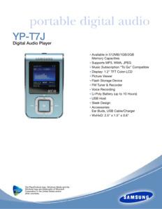 Samsung  MP3 Yepp YP-T7J Silver (512MB) Digital Media Player  & USB