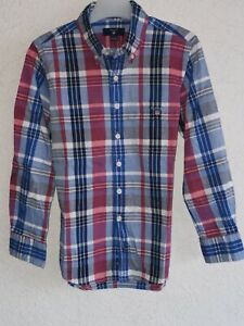 Gant boys cotton long sleeve multicoloured check size 7/8 years 122/128 cm