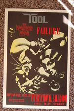 Tool Concert tour poster 1994 Failure The Flaming Lips Houston
