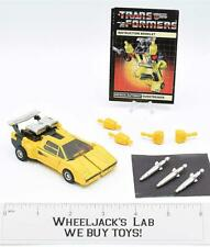 Sunstreaker ~ 100% Complete 1984 Pre-Rub Hasbro G1 Transformers WITH MANUAL