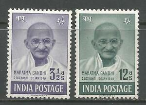 INDIA 1948   KGVI   MH   1st Anniversary of Independence   SG 306,307   Cat.£43