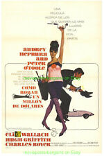 HOW TO STEAL A MILLION MOVIE POSTER Original 27x41 Spanish Ver. AUDREY HEPBURN