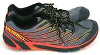 Merrell Bare Access 4 Mens Size 8.5 Trail Running Shoe Folkstone Grey Red J37751