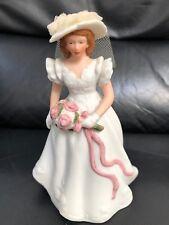 "Vintage Musical Porcelain Bisque ""Bride "" Figurine-San Francisco Music Box Co."