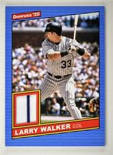 2020 Donruss Retro 1986 Materials #86M-LW Larry Walker - Colorado Rockies