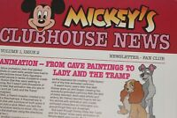 Mickey Mouse Club 1987 Clubhouse Newsletter Disneyland Star Tours Walt Disney