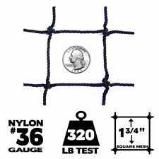 Netting - 50' x 50', #36 Gauge, Baseball / Softball Panel Net (Choose Border)
