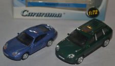 CARARAMA / HONGWELL - PORSCHE CARS SET - 911 COUPE BLUE / CAYENNE S GREEN SUV