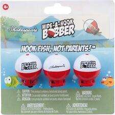 Shakespeare Hide-A-Hook Floats (3 Pack), Fishing Bobbers Red/White
