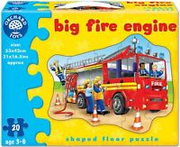 Orchard Toys BIG FIRE ENGINE Baby/Toddler/Child Jigsaw Shaped Floor Puzzle BN