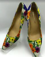 Ivanka Trump Women's Floral Feminine Pumps Heels Pointed Toe Leather Sole 6.5M