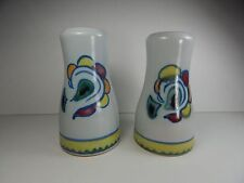 Vintage Buchan Stoneware Sutherland Tall Salt and Pepper Shakers Scotland 4 1/2""