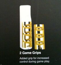 2 NEW Gold Game Grips for Nintendo Wii system console Sports