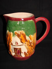 Ancien pichet barbotine Saint Clement - Broc cruche carafe faience ceramique