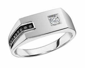 Mens 1Ct Round Diamond Wedding Band Ring 14K White Gold Finish