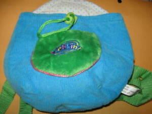 New WEBKINZ Plush Pet CARRIER Knapsack backpack blue/green