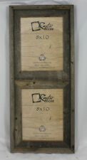 "8x10-2.5"" Wide Reclaimed Rustic Barn Wood Vertical Collage Frame Holds 2 Photos"