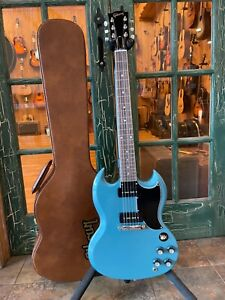 Gibson SG Special Electric Guitar - Faded Pelham Blue w/ OHSC + P90 Pickups