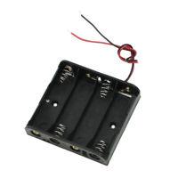Noir, plastique, Boitier de rangement pour 4x1,5V AA pile, avec fil H1B8