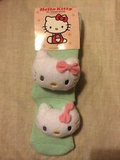 Brand new Debenhams Sanrio 3D Hello Kitty Slipper socks cute kawaii green 4-7